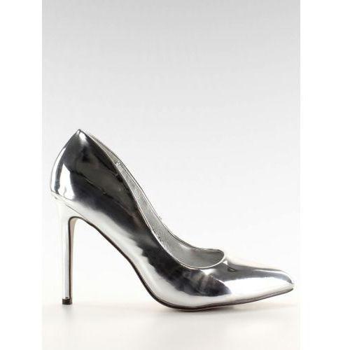 Lustrzane szpilki mirror heels mm08p silver, Jestesmodna