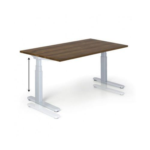 B2b partner Stół z regulacją wysokości, 675-1275 mm, elektryczny, 1600 x 800 mm, orzech