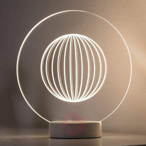Paulmann Lampa stołowa led 3d basic 79535, led wbudowany na stałe x 1;3 w, 230 v, ip20, (Øxw) 10.4 cmx3.3 cm, biały (matowy)