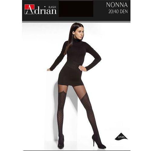 Adrian Rajstopy nonna 5xl-6xl 20/40 den 5-xl, czarny/nero, adrian