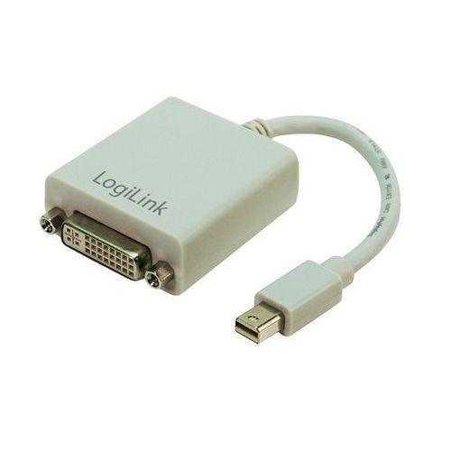 Logilink Przejściówka, adapter displayport, dvi  cv0037 cv0037, [1x złącze męskie mini-displayport - 1x złącze żeńskie dvi 29-pin] (4260113570098)