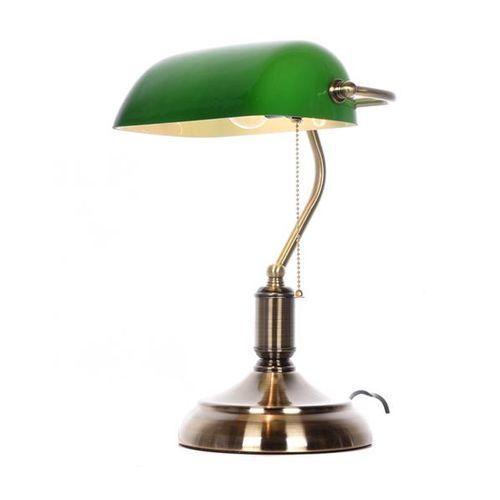 Klasyczna lampa bankierska biurkowa zielona banker classic marki Lumina deco