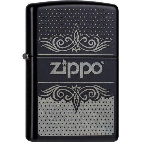Zapalniczka ZIPPO Logo Pattern Classic, Black Matte (Z26673)