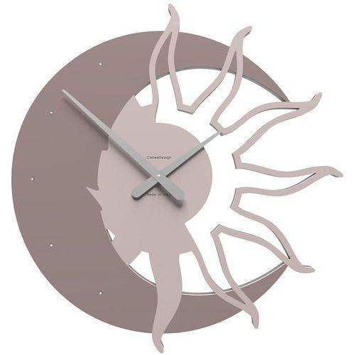 Zegar ścienny Sun & Moon CalleaDesign Swarovski crystals szara śliwka (10-209-34)