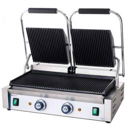 Kontakt grill podwójny ryflowany 263709 marki Hendi