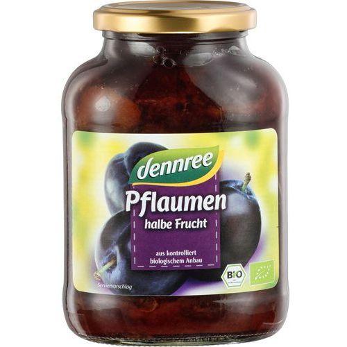 Śliwki połówki bez pestek z koncentratem soku jabłkowego bio 540 g (305 g) - dennree marki Dennree (dżemy, miody, herbaty)