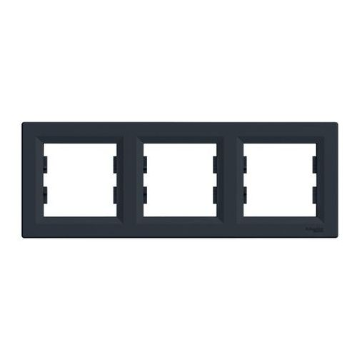 Ramka potrójna Schneider Electric Asfora pozioma antracyt, kolor antracyt