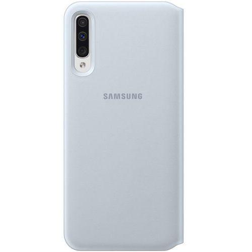 wallet cover etui kabura bookcase z kieszonką na kartę samsung galaxy a50 biały (ef-wa505pwegww) marki Samsung