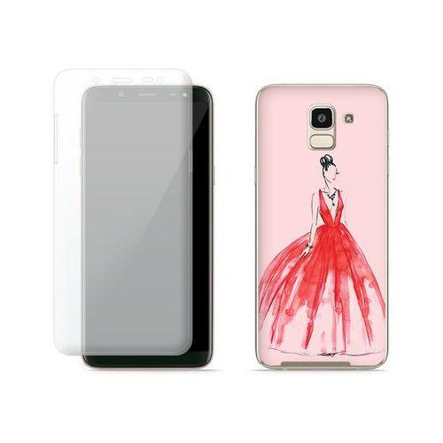 Samsung Galaxy J6 - etui na telefon Full Body Slim Fantastic - czerwona suknia, ETSM732FBSFFC116000