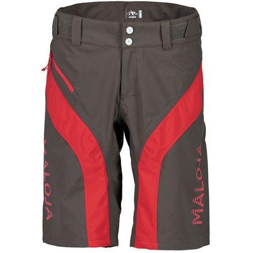 Maloja MansfieldM. Spodnie rowerowe Mężczyźni szary/czerwony XL 2017 Spodenki rowerowe