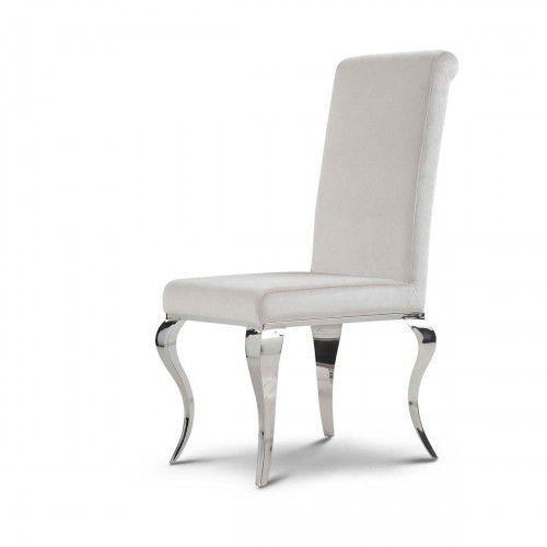 Krzesło glamour Premier Milk - nowoczesne krzesło tapicerowane (5908273392721)