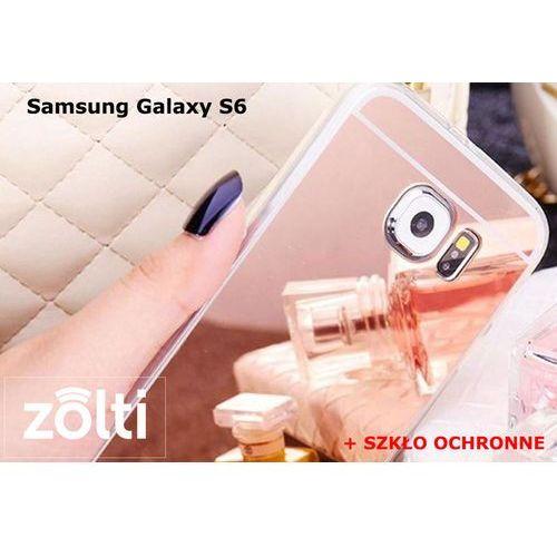 Zestaw | Slim Mirror Case Różowy + Szkło ochronne Perfect Glass | Etui dla Samsung Galaxy S6, kolor różowy