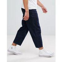 Kiomi wide leg jeans in rinse wash - navy