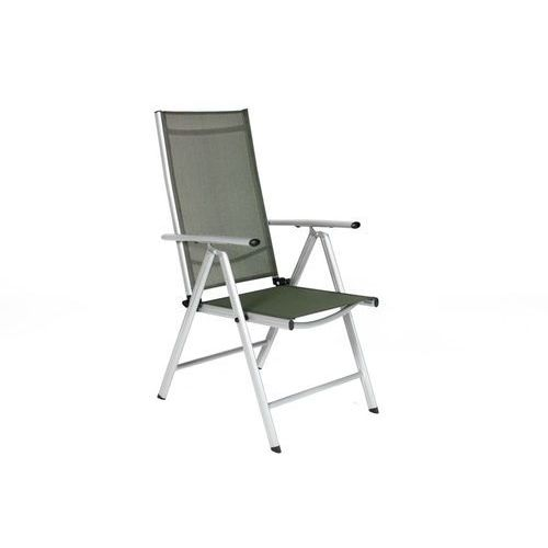 Krzesło ogrodowe składane aluminiowe MODENA - Srebrne - srebrny