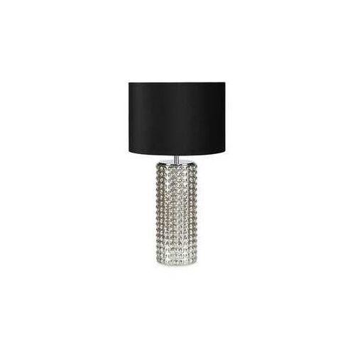 Markslojd Stojąca lampka biurkowa proud 107490 nocna lampa abażurowa czarna srebrna