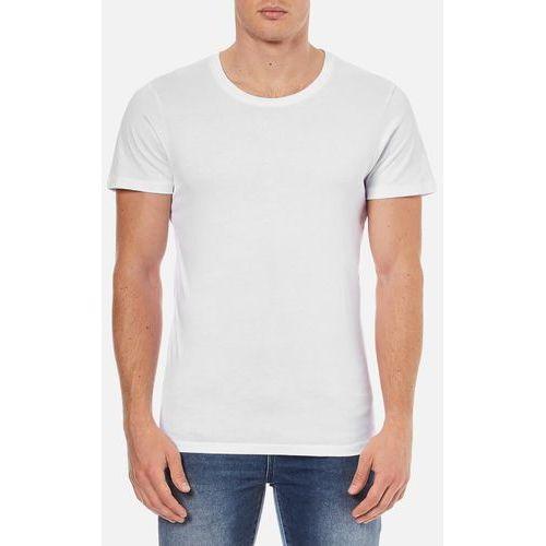 Selected Homme Men's Dave Pima Short Sleeve Cotton T-Shirt - White - L