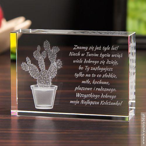 Kaktus Opuncja 3D • personalizowany kryształ 3D • GRAWER 3D