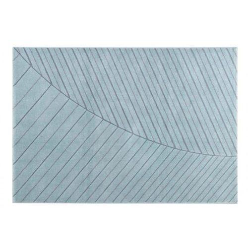 Dywan FJORD w skandynawskim stylu – polipropylen i juta – 160 × 230 cm – kolor niebieski