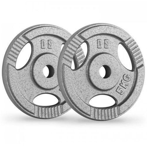 ipb 5 obciążenia talerze para 30 mm 5 kg otwory chwytowe szare marki Capital sports