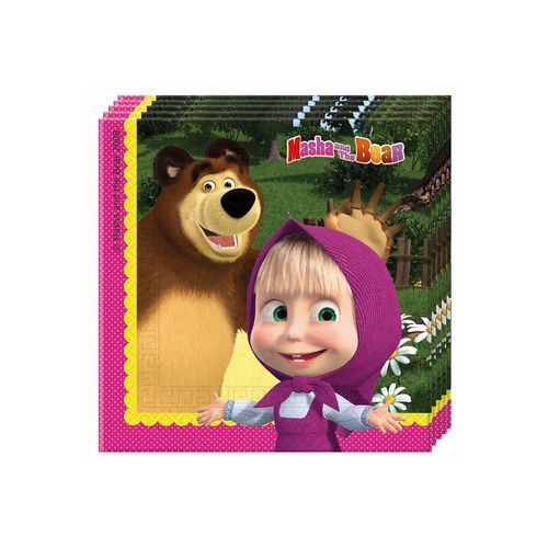 J.MASHA AND THE BEAR 20SZT.SERWETKI 33X33CM, #A194^zp