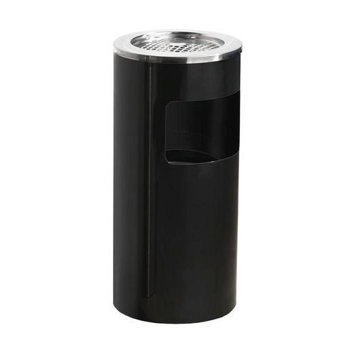 Czarna popielnica o poj 13 l - Wysokość: 650mm średnica 300mm z kategorii Popielniczki