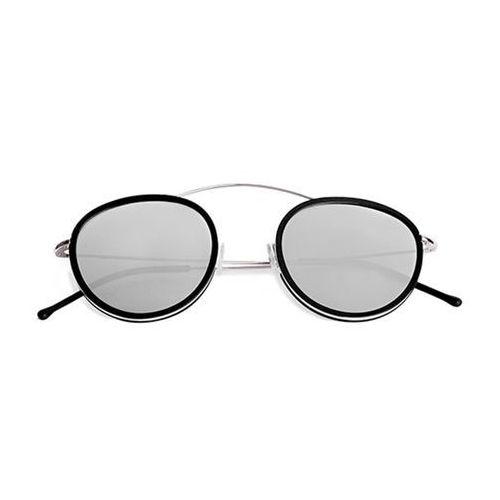 Okulary słoneczne metro 2 flat mr03aft/silver/black (silver mirror) marki Spektre