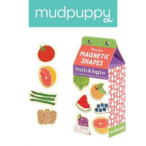zestaw drewnianych magnesów owoce i warzywa 35 elementów marki Mudpuppy