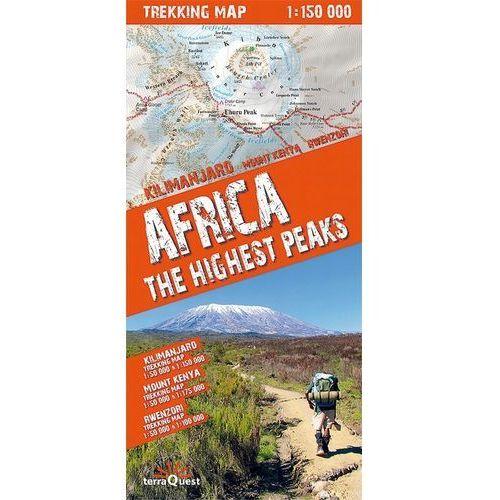 Africa the highest peaks 1:150 000 trekking map - TYSIĄCE PRODUKTÓW W ATRAKCYJNYCH CENACH