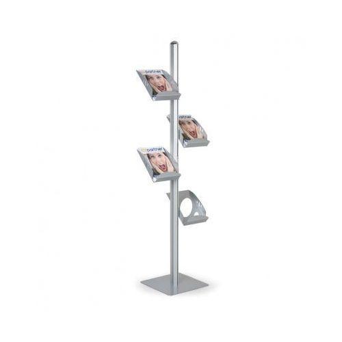 Metalowy stojak na ulotki marki B2b partner