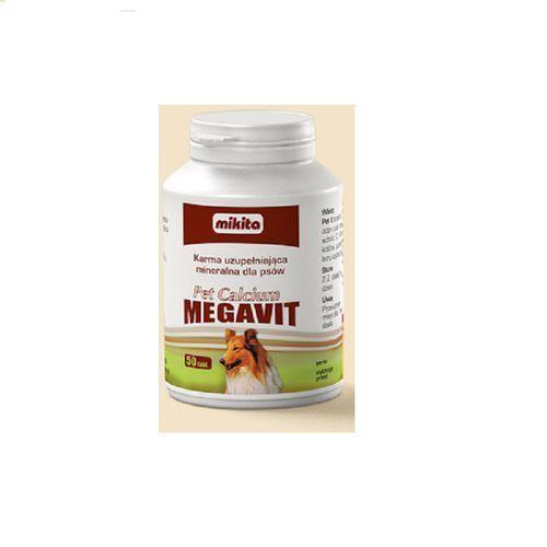 MIKITA Pet Calcium Megavit - preparat witaminowo - mineralny dla psów 50tab. (5907615400827)