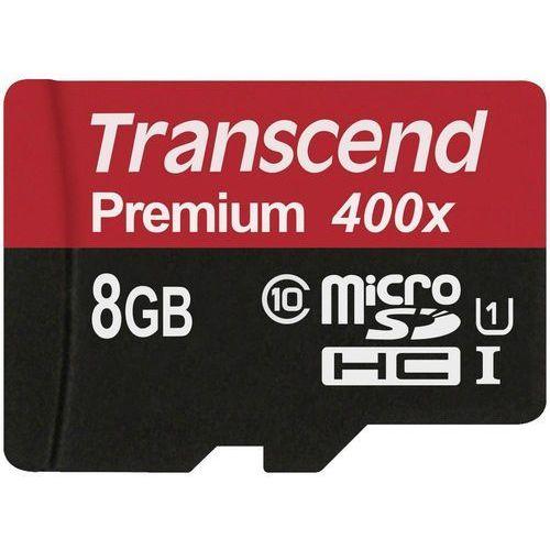 Transcend Karta pamięci microsdhc  ts8gusdcu1, 8 gb, class 10, uhs-i, 60 mb/s / 20 mb/s