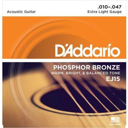 D'Addario EJ-15 struny do gitary akustycznej 10-47, 5E98-693D8