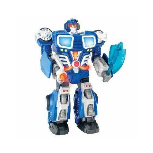 Robot 30cm Autotron Chodzi Świeci Dumel Niebieski 5877