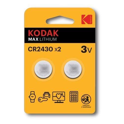 KODAK BATERIE LITOWE CR 2430 BLISTER X 2 SZT. - 30417755- Zamów do 16:00, wysyłka kurierem tego samego dnia!