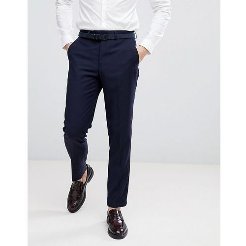 birdseye weave slim fit suit trousers - navy, French connection