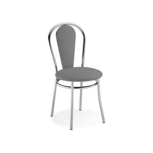 Nowy styl Krzesło tapicerowane jasny szary vida