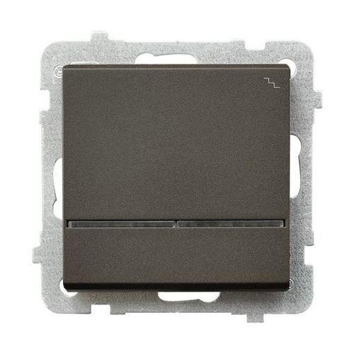 Łącznik schodowy Ospel Sonata ŁP-3RS/M/40 16AX IP20 czekoladowy metalik z podświetleniem