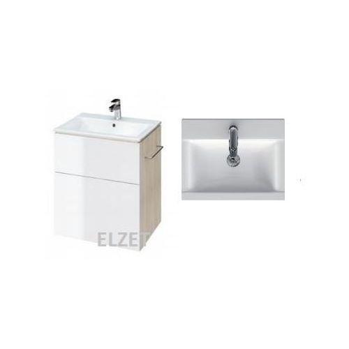CERSANIT szafka Smart jasny jesion/biała + umywalka Ontario New 50 S568-016+K669-001, kolor biały