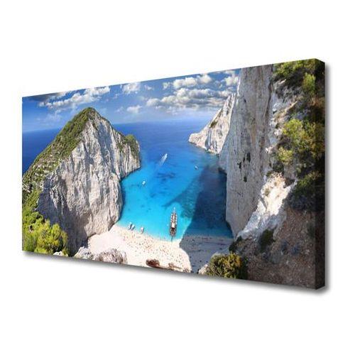 Obraz na płótnie zatoka góra plaża krajobraz marki Tulup.pl