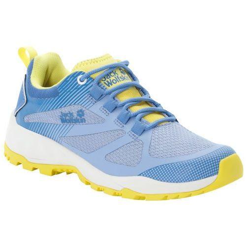 Buty sportowe damskie FAST STRIKER LOW W light blue / lemon - 5 (4060477445342)