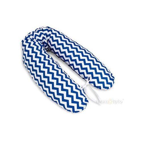 Mamo-tato  poduszka dla kobiet w ciąży zygzak granat