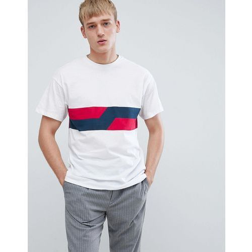 New look oversized t-shirt with two tone detail in white - white