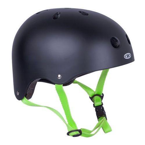 Kask na rower, rolki, deskorolkę, fiszkę rivaly, zielony pasek, xs (48-52) marki Worker