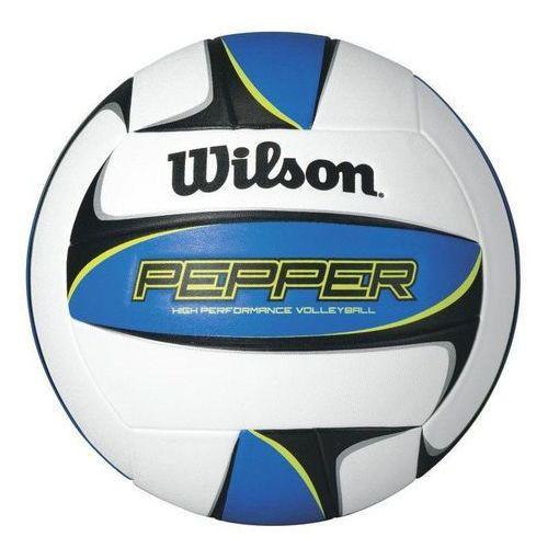 Piłka do siatkówki Wilson PEPPER blue 5105 - Biało - niebiesko - czarny