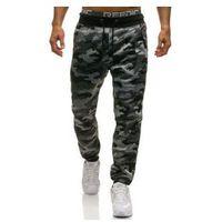 Spodnie męskie dresowe joggery moro-szare denley 4559, Nature