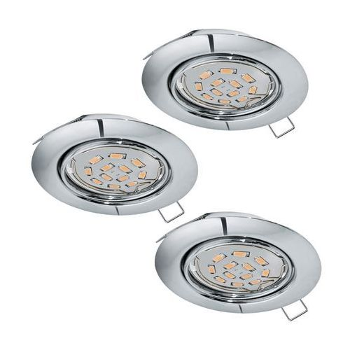 Lampa Eglo Peneto 94407 oprawa wpuszczana downlight oczko zestaw 3szt 3x5W GU10-LED chrom (9002759944070)