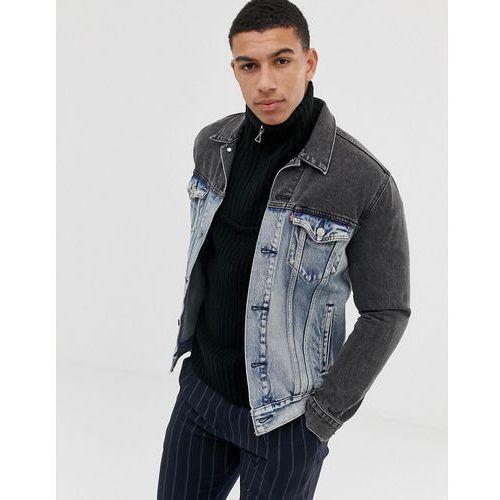 Levi's banzi two tone denim trucker jacket in blue - blue, Levis