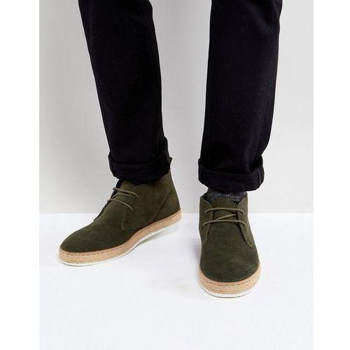 Dune Desert Boots With Espadrille Sole Khaki - Green