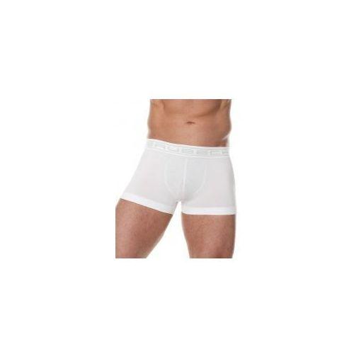 Bezszwowe bokserki męskie comfort cotton bx10050 białe, Brubeck