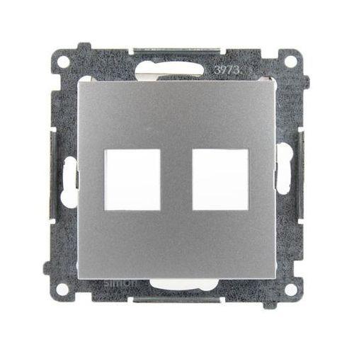 Pokrywa gniazd teleinformatycznych Simon 54 DKP2.01/43 Keystone płaska podwójna srebrny mat Kontakt-Simon (5902787824457)
